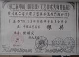 中国工艺美术优秀作品评选银奖
